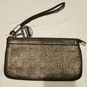 Authentic [GUCCI] Guccissima Leather Wristlet